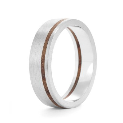 Wood Personalised Ring Hulu - AMAZINGNECKLACE.COM