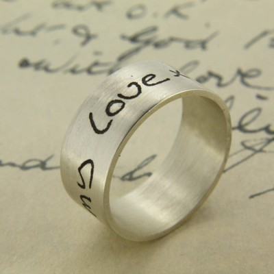 Your Own Handwriting Personalised Ring - AMAZINGNECKLACE.COM